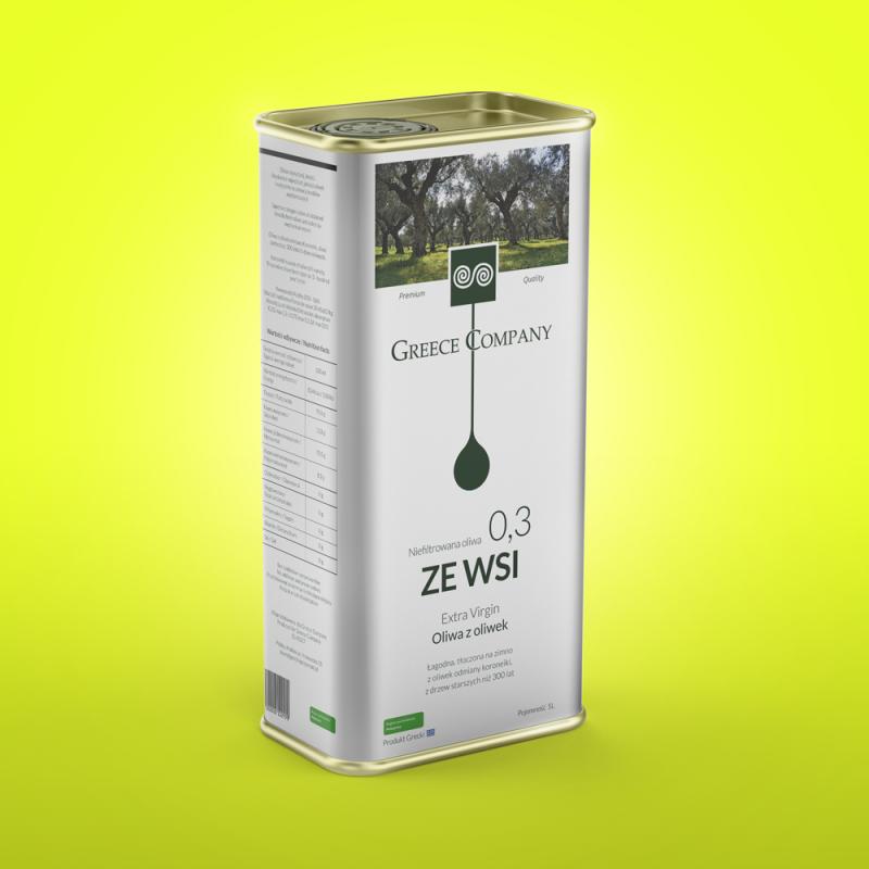 "Oliwa ""ZE WSI"" niefiltrowana łagodna 0.3% 5 l"