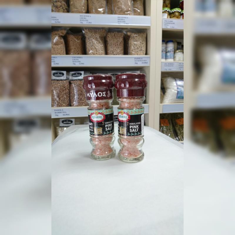 Sól himalajska różowa z młynkiem 80 g