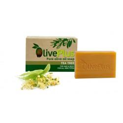 Naturalne mydło oliwkowe z drzewem herbacianym 100g