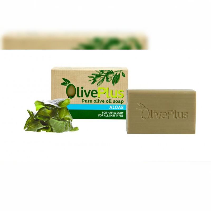 Naturalne mydło oliwkowe z algami 100gr